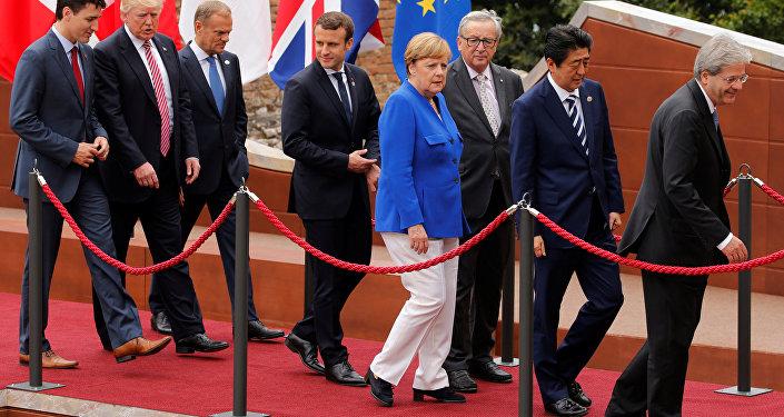 Los líderes de los países de G7