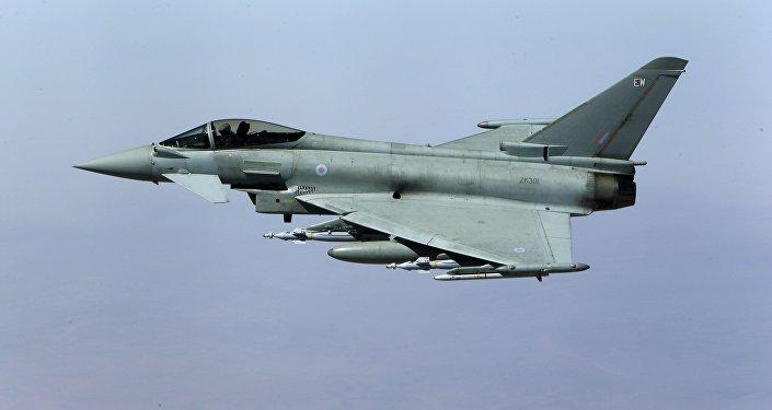 Un caza Typhoon (imagen referencial)