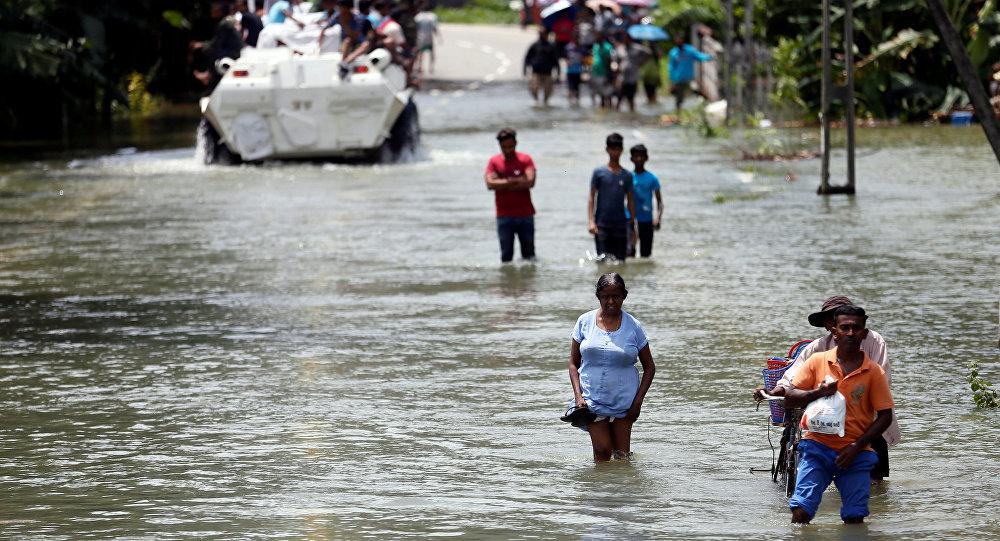 Las inundaciones en Sri Lanka