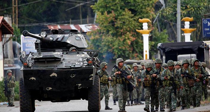 Militares de Filipinas en Marawi (archivo)