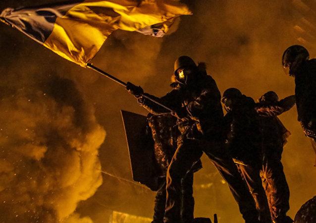 Los disturbios del Maidán en la capital de Ucrania en 2014 (archivo)