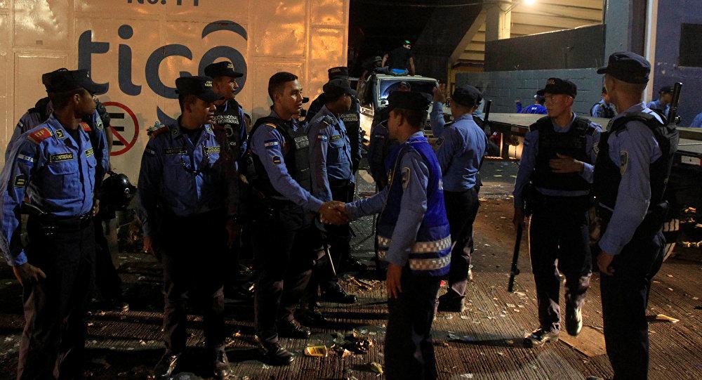 La policía de Honduras