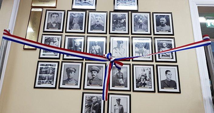 Muestra de fotos de rusos voluntarios en la Guerra del Chaco