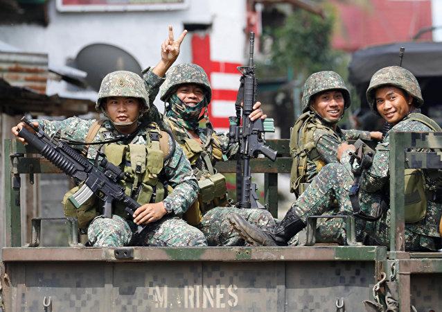 Marina filipina en Marawi