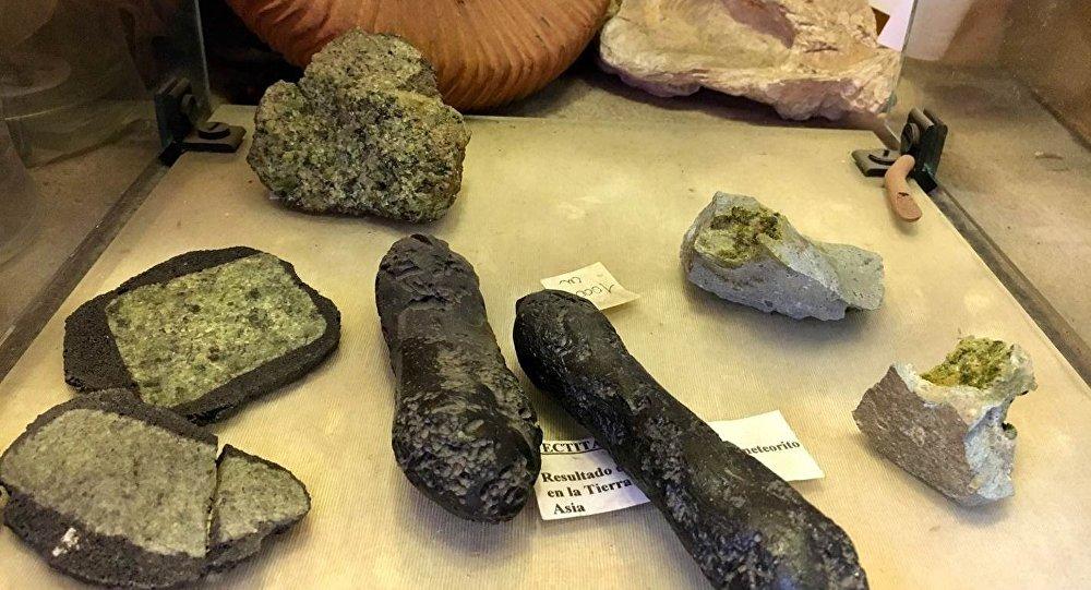 Fragmentos de meteoritos en México