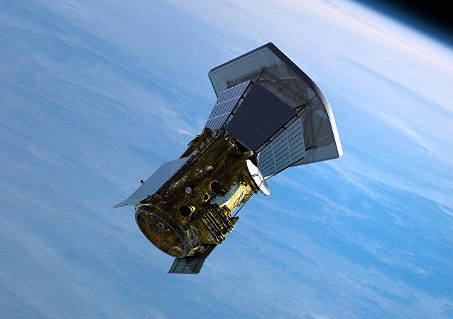 La sonda Solar Plus que sale de la Tierra, imagen ilustrativa