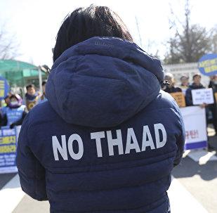 Protesta contra el despliegue del THAAD en Corea del Sur