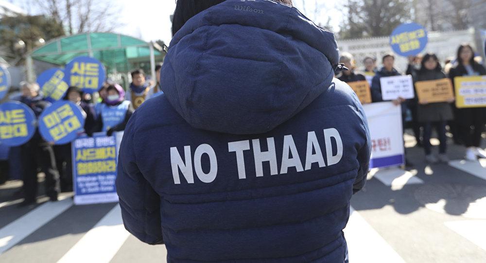 Protesta contra el despliegue del THAAD en Corea del Sur (archivo)