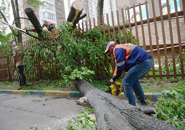 Consecuencias del huracán en Moscú