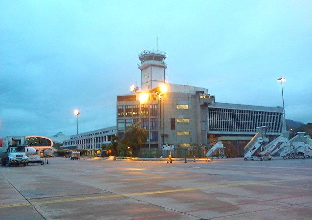 El aeropuerto de Santos Dumont de Río de Janeiro, Brasil