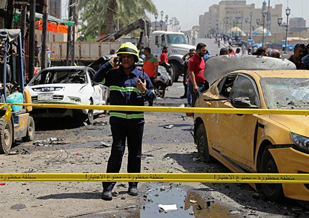 Las fuerzas de seguridad iraquíes en el sitio de un ataque en Irak (archivo)