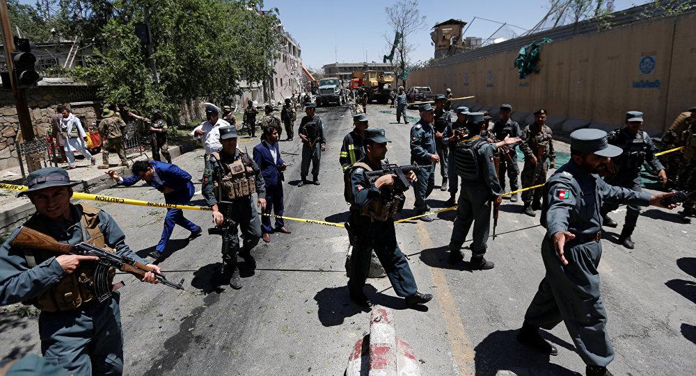 La policía de Afganistán en el lugar del atentado en Kabul (archivo)