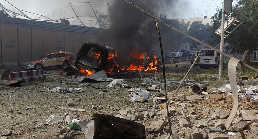 Consecuencias del atentado de Kabul, Afganistán (archivo)