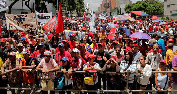 Partidarios del Gobierno del presidente Nicolás Maduro