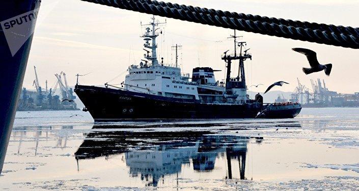 Buque de la Flota rusa del Pacífico (archivo)