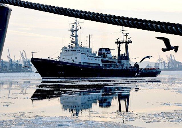 El buque Alatau de la Flota del Pacífico de Rusia