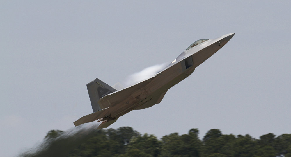 Un caza F-22