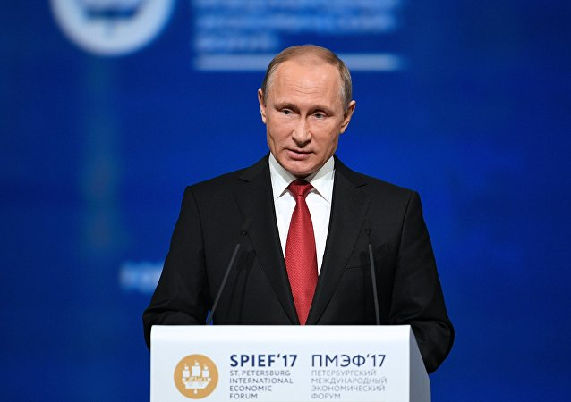 Vladimir Putin en el Foro Económico Internacional de San Petersburgo