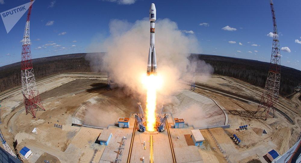Lanzamiento de cohete Soyuz desde el comsódromo Vostochni (archivo)