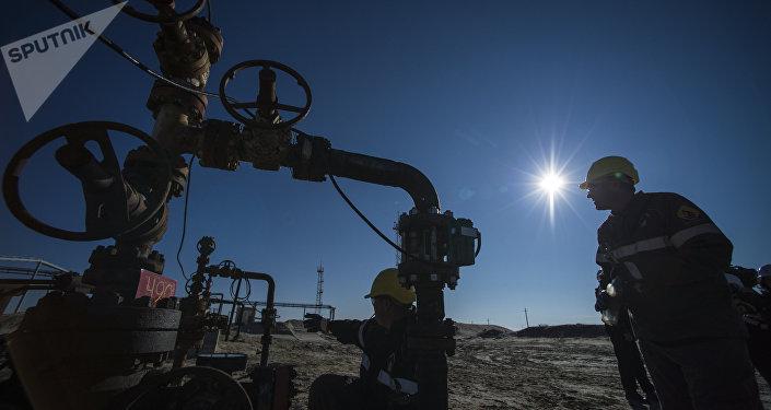 Uno de los yacimientos petrolíferos de Rusia