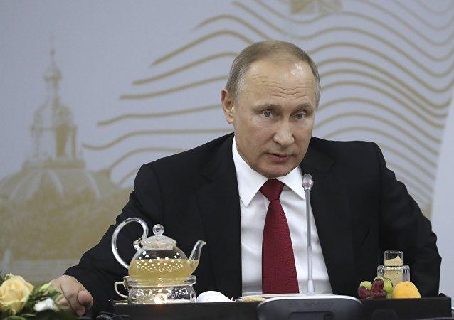Vladímir Putin, presidente de Rusia, en el SPIEF 2017
