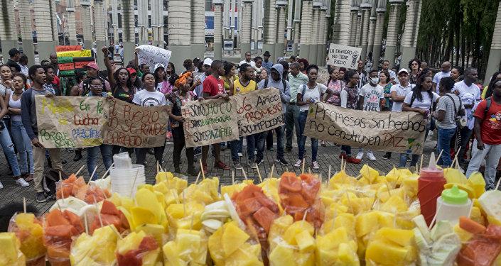 Protesta en Buenaventura, Colombia