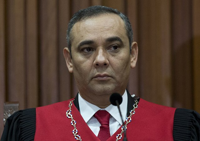 Maikel Moreno, presidente del Tribunal Supremo de Justicia venezolano (archivo)