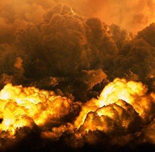 Nubes tras una explosión
