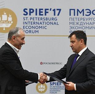Viceministro de Energía de Rusia, Kirill Molodtsov, y el viceministro de Petróleo de Irán para las relaciones internacionales y el comercio, Amirhossein Zamaniniya