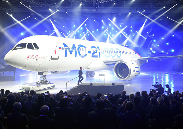 Presentación del nuevo avión de pasajeros MC-21