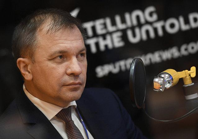 Andréi Mélnikov, ministro de Desarrollo Económico de Crimea, durante su entrevista con Sputnik