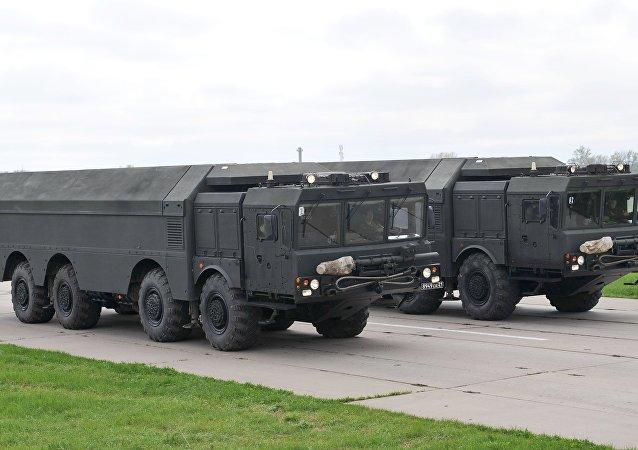 Complejo de misiles tácticos ruso Iskander (archivo)