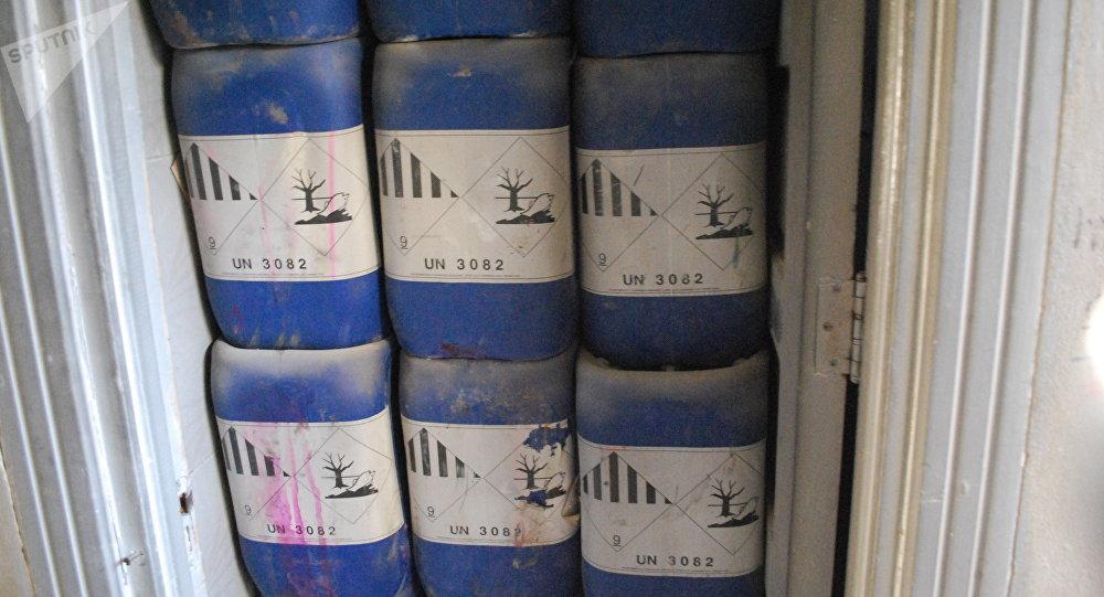 Fábrica de armas químicas de los radicales en Alepo (archivo)