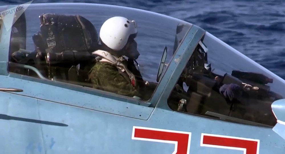 Un piloto militar ruso en Siria (archivo)