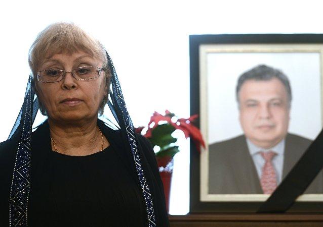 Marina Kárlova, viuda del embajador ruso asesinado en Turquía, Andréi Kárlov
