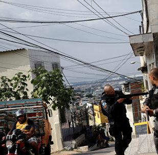 Policía brasileña en Río de Janeiro (archivo)