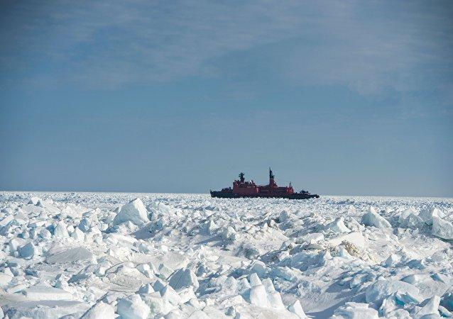 Un rompehielos ruso en el Ártico (archivo)