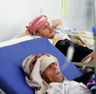Enfermos de cólera en Yemén (archivo)