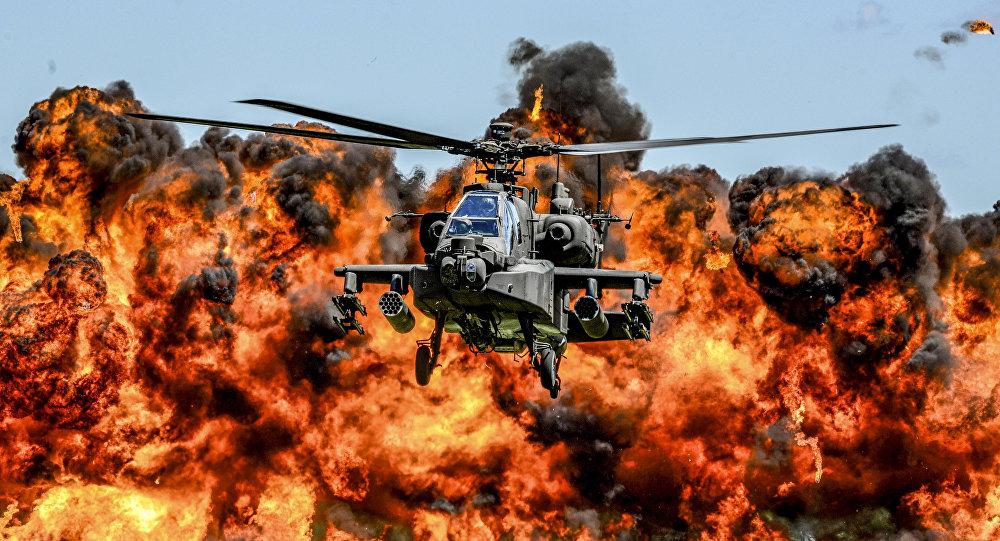 Helicóptero AH-64 Apache (imagen referencial)
