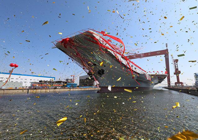 La botadura del portaviones chino Liaoning