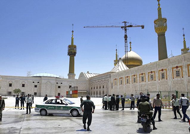 Situación cerca del mausoleo del imán Ruholá Jomeiní