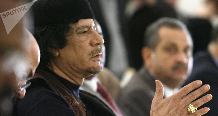Ex líder de Libia Muammar Gadafi