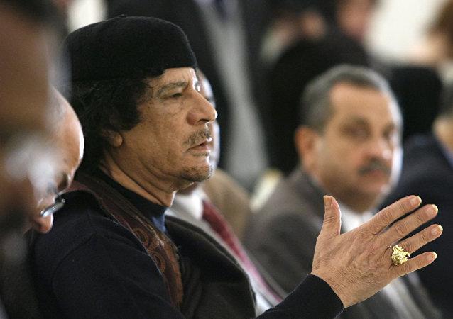 Muamar Gadafi, exlíder de Libia