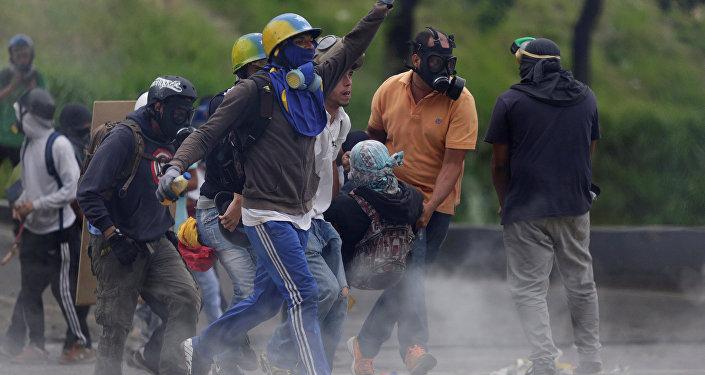 Violentos atacaron el Ministerio de Transporte en el municipio Chacao — Ministro Molina
