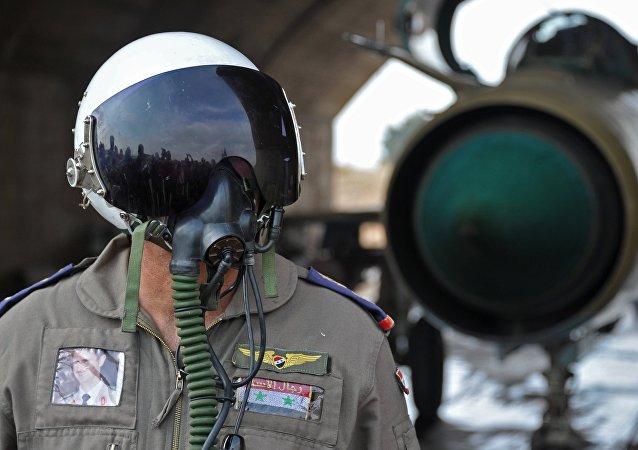 Las Fuerzas Aéreas de Siria (archivo)