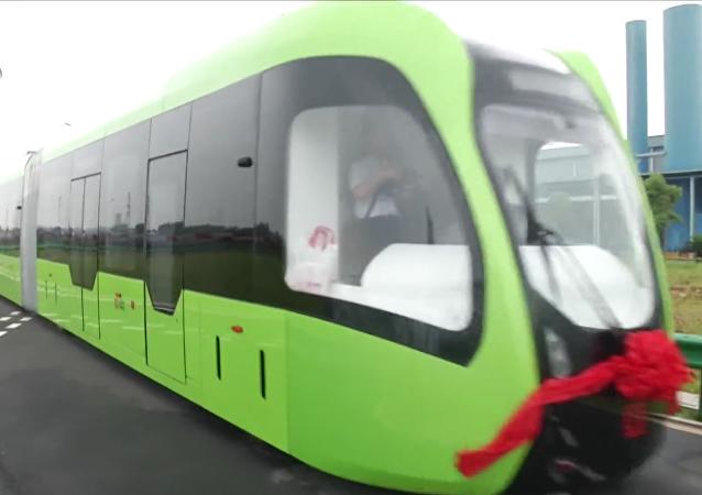 Transporte a rieles autónomo rápido de la empresa china CRRC