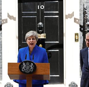 Theresa May, primera ministra del Reino Unido, tras las elecciones del Reino Unido