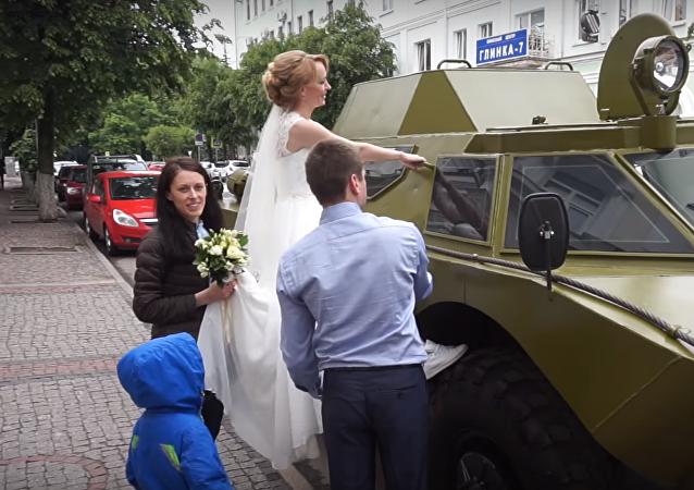 Una boda en la ciudad rusa de Smolensk
