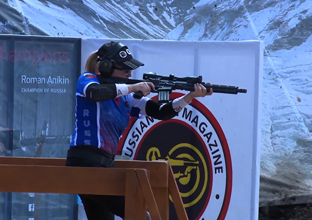 Equipo ruso durante el Campeonato Mundial de Tiro Práctico con Rifle