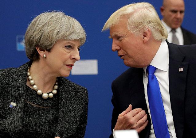 El presidente de EEUU, Donald Trump, y la primera ministra de Reino Unido, Theresa May (archivo)